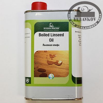 М00007755  -  Масло льняное Borma Linseed Boiled Oil, 500мл