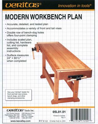 М00004898  -  План верстака Modern workbench