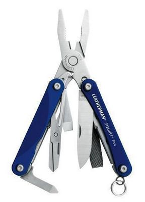 831230  -  Мультитул Leatherman Squirt PS4, 9 функций, синий