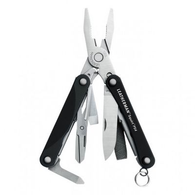 831233  -  Мультитул Leatherman Squirt PS4, 9 функций, черный*