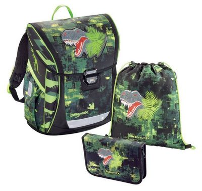 00138630  -  Ранец Step by step BaggyMax Fabby Green Dino 3 предмета